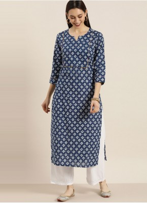 Modernistic Blended Cotton Party Wear Kurti
