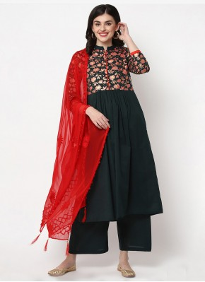 Modernistic Cotton Green Trendy Salwar Suit