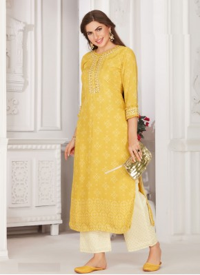 Modernistic Embroidered Muslin Party Wear Kurti