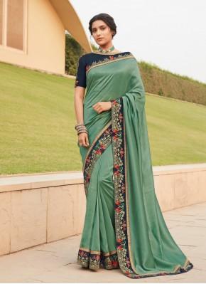 Modernistic Silk Lace Classic Saree