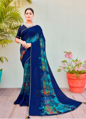 Modest Abstract Print Cotton Silk Printed Saree