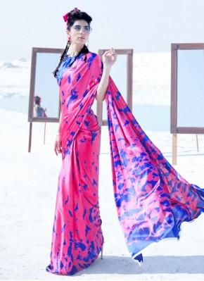 Modest Printed Crepe Silk Classic Saree