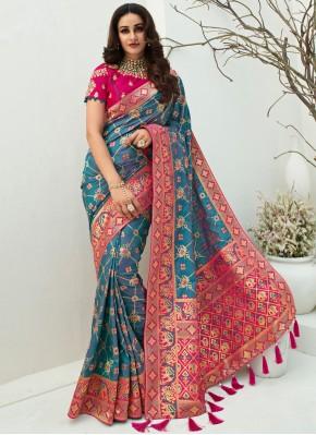 Modish Banarasi Silk Festival Designer Traditional Saree