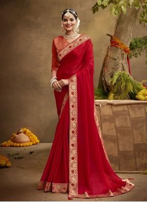 Modish Patch Border Traditional Designer Saree