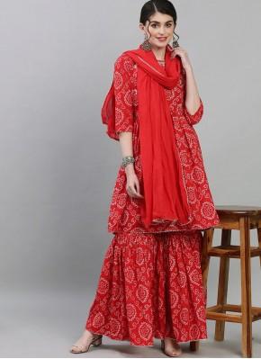Modish Print Cotton Readymade Suit