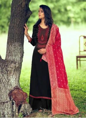Modish Silk Embroidered Designer Palazzo Salwar Kameez