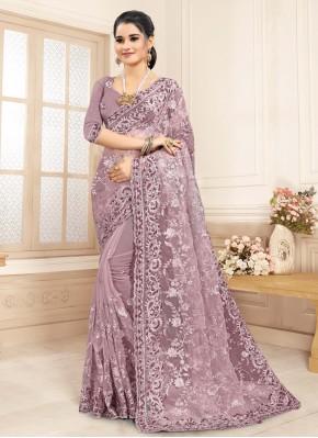 Monumental Resham Lavender Classic Saree