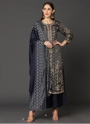 Monumental Resham Navy Blue Salwar Suit