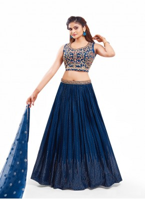 Multi Color Thread Work Chiffon Bollywood Lehenga Choli