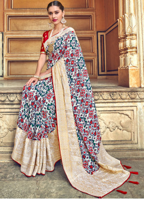 Multi Colour Art Silk Wedding Traditional Designer Saree