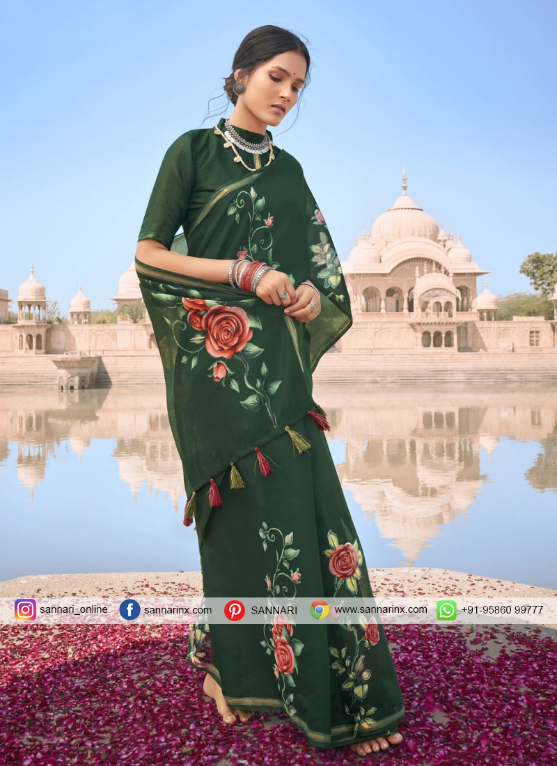 Multi Colour Casual Cotton Printed Saree