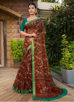 Multi Colour Casual Cotton Silk Designer Saree