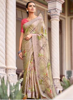 Multi Colour Casual Satin Traditional Saree
