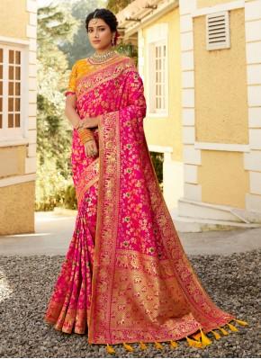 Multi Colour Ceremonial Silk Traditional Saree