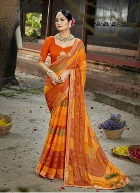 Multi Colour Color Printed Saree