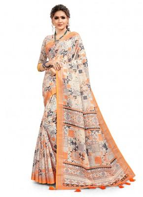 Multi Colour Cotton Festival Printed Saree