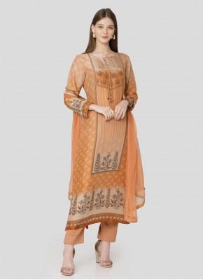 Multi Colour Embroidered Wedding Designer Pakistani Suit