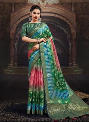 Multi Colour Fancy Fabric Ceremonial Designer Saree