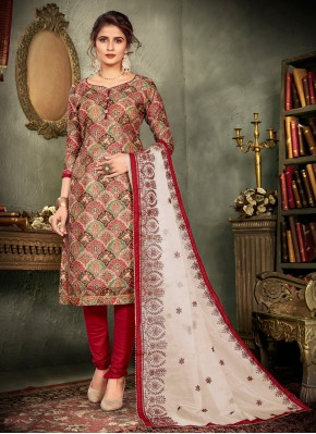 Multi Colour Festival Chanderi Designer Pakistani Salwar Suit