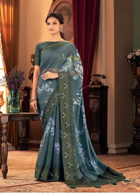 Multi Colour Festival Designer Traditional Saree