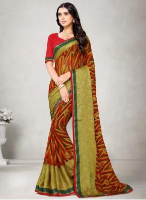 Multi Colour Festival Fancy Fabric Printed Saree