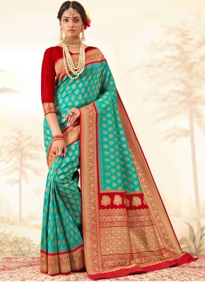 Multi Colour Festival Silk Saree