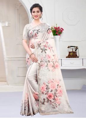 Multi Colour Georgette Satin Designer Saree