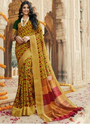 Multi Colour Party Contemporary Saree