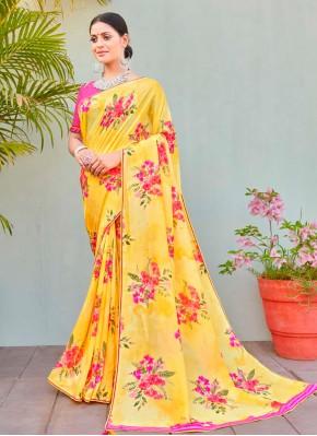Multi Colour Party Cotton Silk Printed Saree