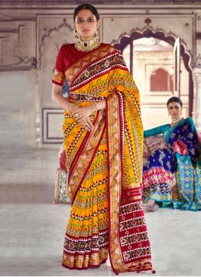 Multi Colour Patola Silk  Fancy Designer Saree