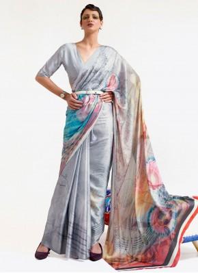 Multi Colour Print Festival Printed Saree