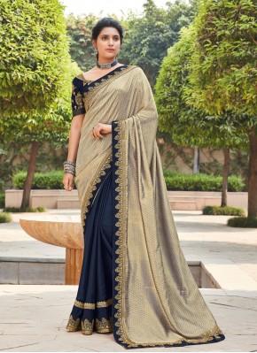 Multi Colour Silk Ceremonial Bollywood Saree