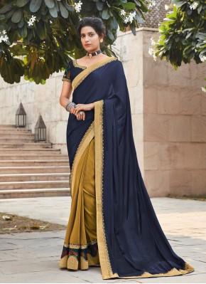 Multi Colour Silk Ceremonial Designer Saree