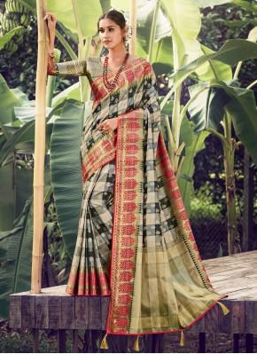 Multi Colour Silk Traditional Designer Saree