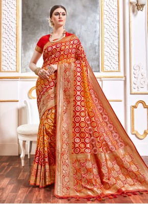 Multi Colour Viscose Designer Saree