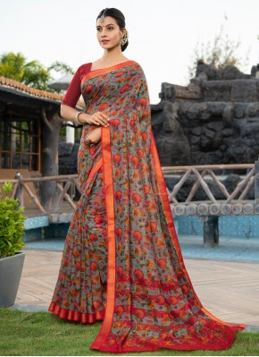 Multi Colour Weaving Casual Classic Saree