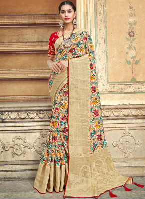 Multi Colour Weaving Designer Traditional Saree