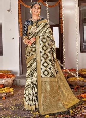 Multi Colour Weaving Sangeet Designer Traditional Saree