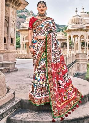Multi Colour Wedding Silk Bollywood Saree