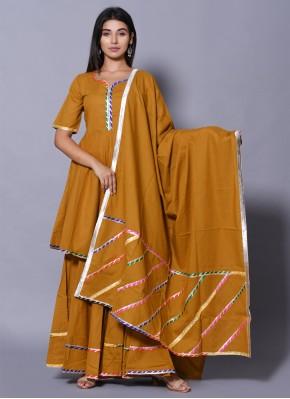 Mustard Cotton Salwar Suit