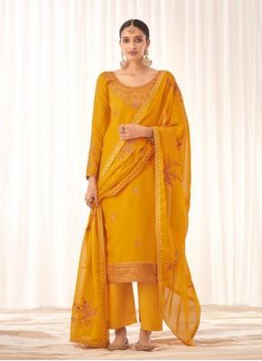 Mustard Festival Designer Pakistani Salwar Suit