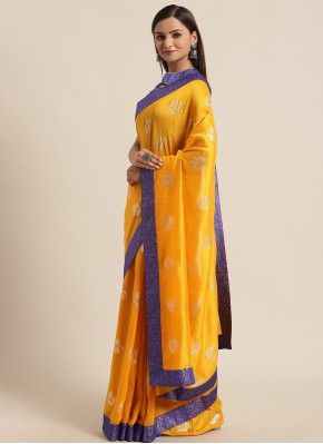 Mustard Silk Festival Traditional Saree