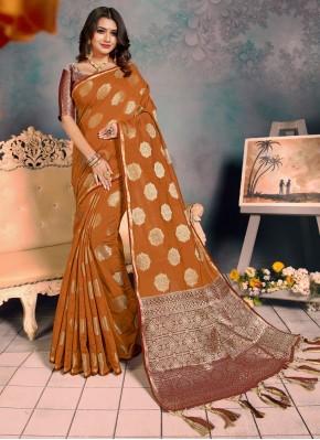 Mustard Weaving Festival Traditional Saree