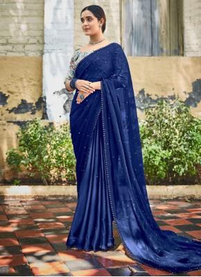 Mystic Blue Trendy Saree