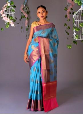 Mystic Chanderi Cotton Trendy Saree