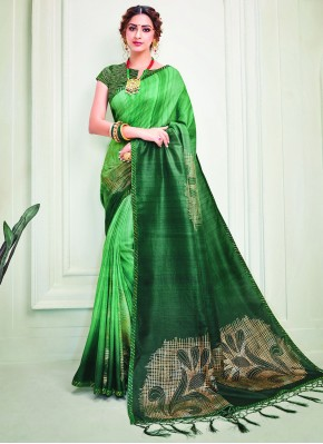 Mystic Green Reception Classic Designer Saree