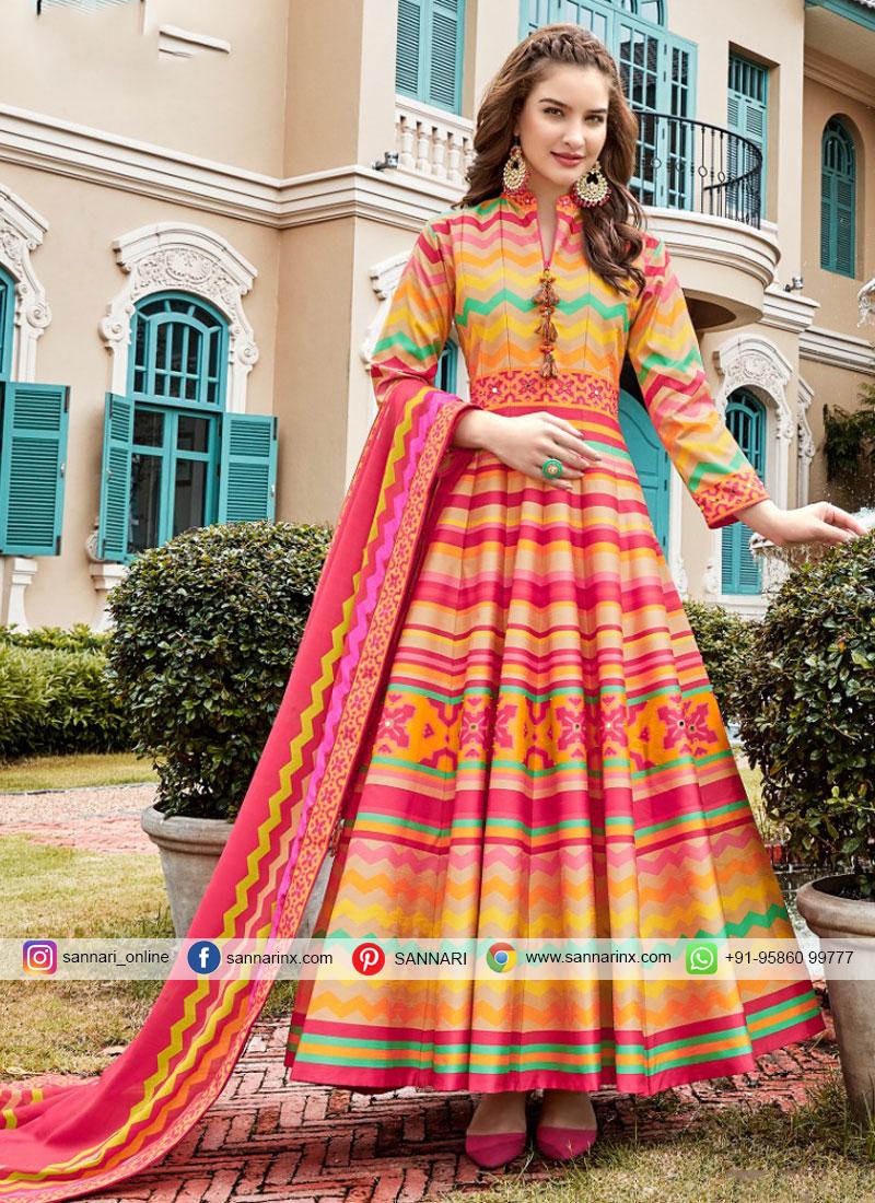 Mystic Handwork Party Trendy Anarkali Salwar Suit