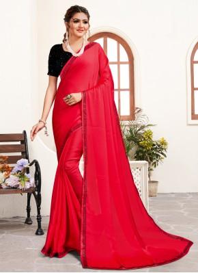 Mystical Pink Stone Work Classic Saree