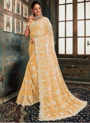 Net Classic Saree in Beige