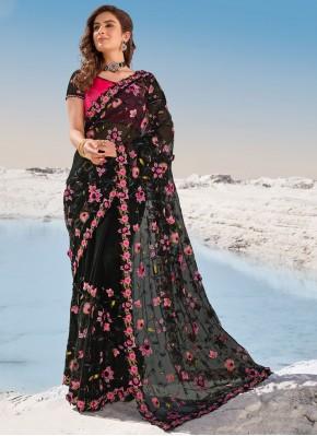 Net Classic Saree in Black